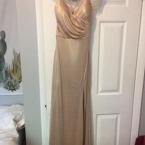NWT Floor Length Gold Formal Dress - Windsor